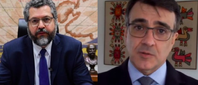 Ernesto Araújo e Carlos Alberto França