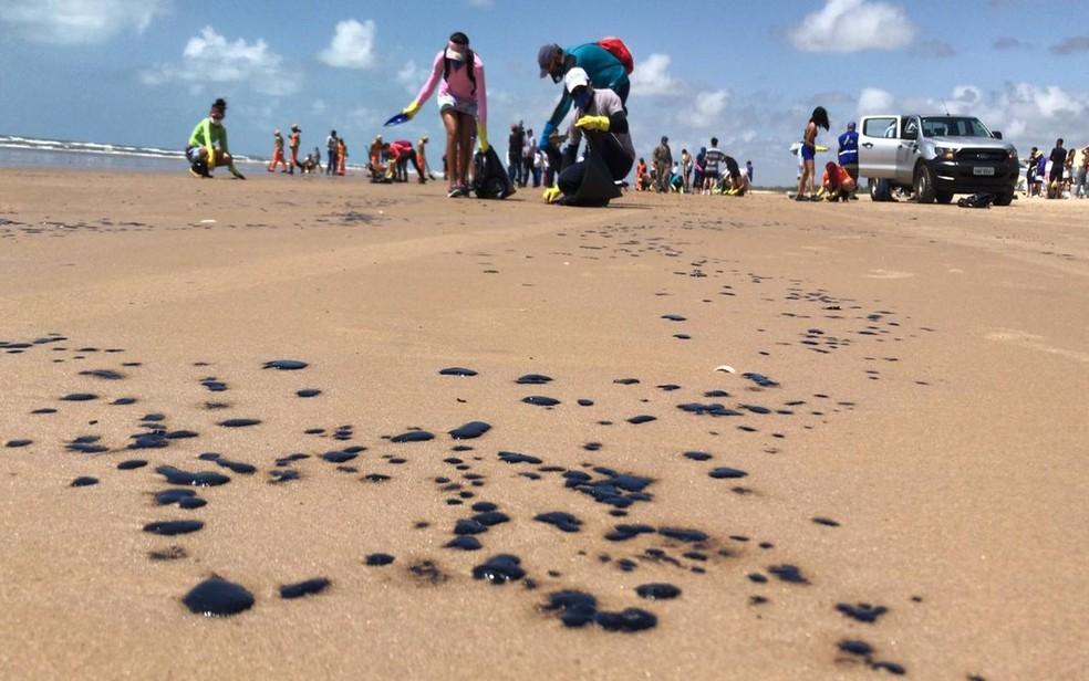 Movimento Praia Limpa, em Aracaju — Foto: Cléverton Macedo/TV Sergipe