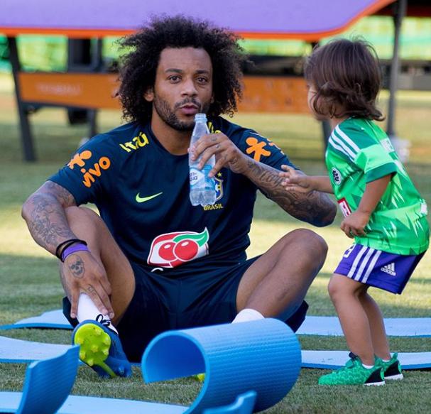 Marcelo com a filha Liam  (Foto: Reprodução Instagram)