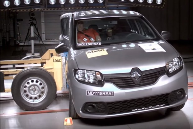 Renault Sandero no crash test do Latin NCAP (Foto: Divulgação)
