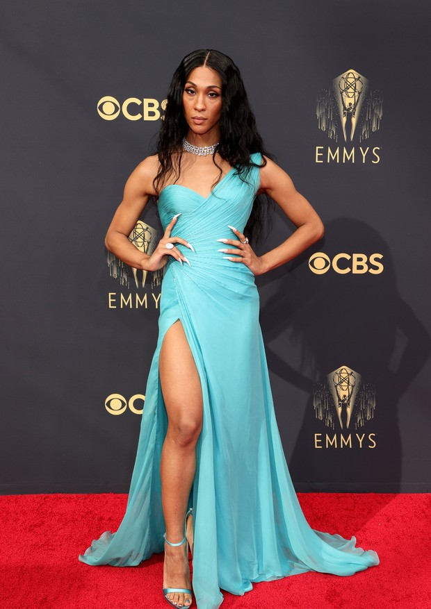 LOS ANGELES, CALIFORNIA - SEPTEMBER 19: Michaela Jaé Rodriguez attends the 73rd Primetime Emmy Awards at L.A. LIVE on September 19, 2021 in Los Angeles, California. (Photo by Rich Fury/Getty Images) (Foto: Getty Images)