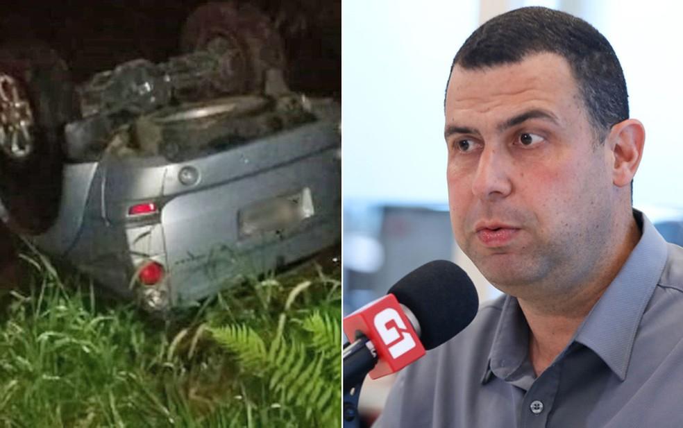 Montagem com fotos do Major Costa e Silva e do carro do candidato — Foto: Divulgação/Polícia Militar; Marcelo Brandt/G1