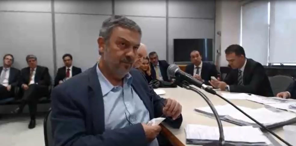 Palocci presta depoimento ao juiz Sergio Moro (Foto: Reprodução)