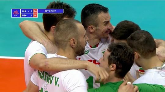 Melhores momentos: Bulgária 3 x 2 Brasil pela Liga das Nações de vôlei masculino