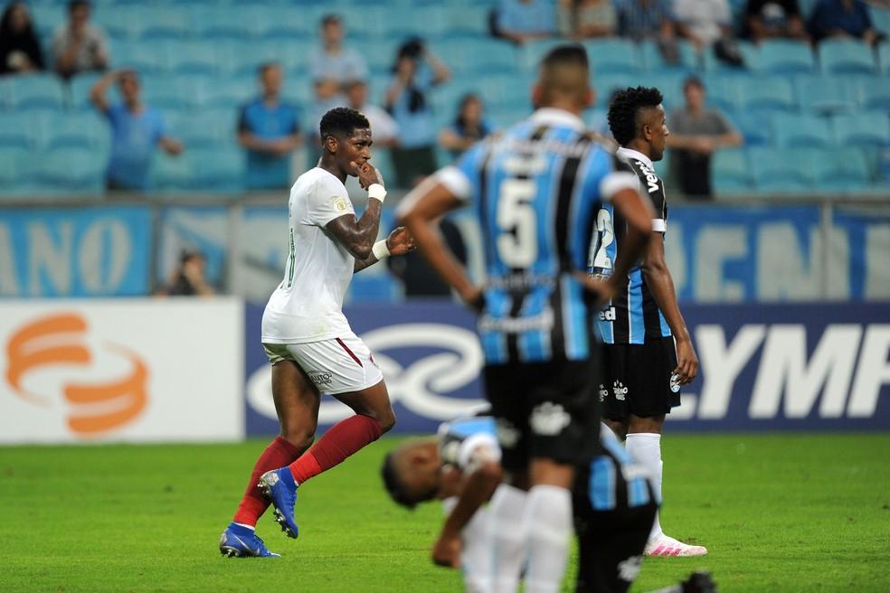 Grêmio perdeu em casa para o Fluminense — Foto: Wesley Santos/Agência PressDigital