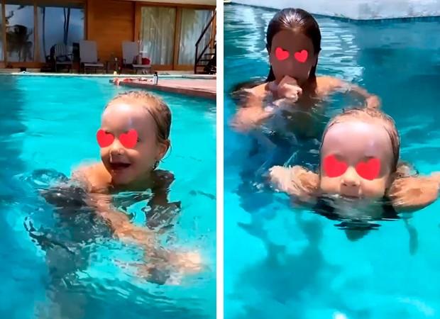 Ivete Sangalo ensina filha a nadar (Foto: Reprodução/ Instagram)