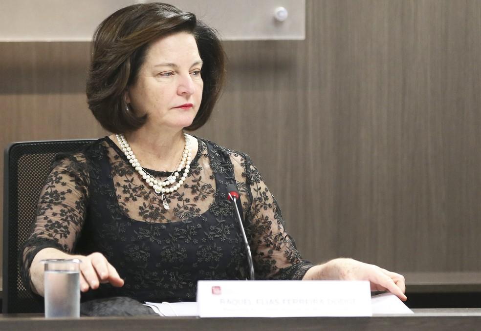 A agora ex-procuradora-geral da República Raquel Dodge — Foto: José Cruz/Agência Brasil