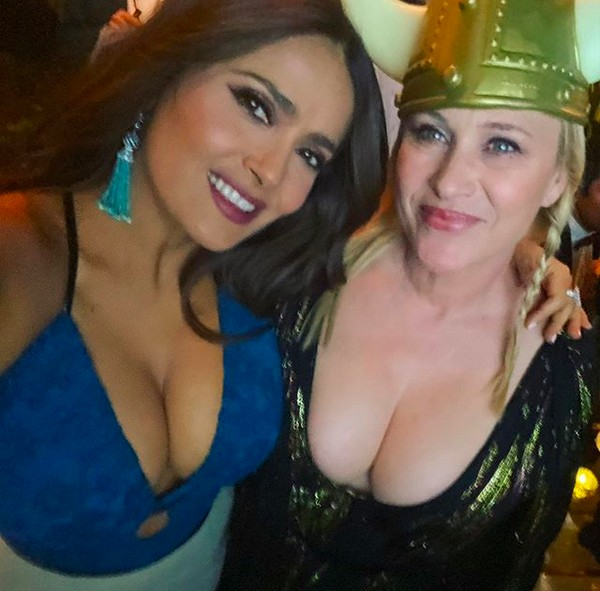 The actress Salma Hayek and Patricia Arquette at the party after the Golden Globe And 2020 (photo: Instagram)
