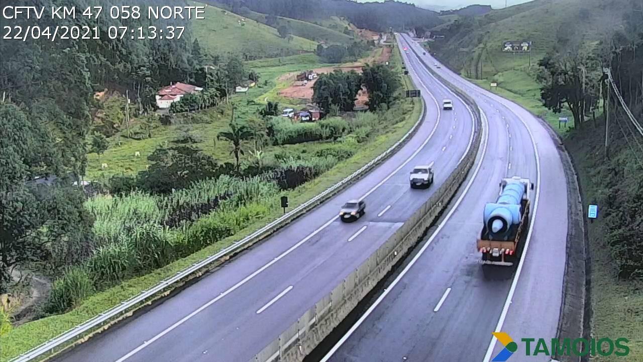 Chuva diminui e Rodovia dos Tamoios está fora do estado de alerta e sem risco de interdição