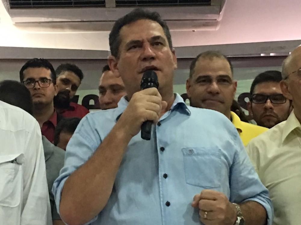 Maurão de Carvalho é anunciado candidato ao governo de RO pelo MDB (Foto: Mayara Subtil/G1)