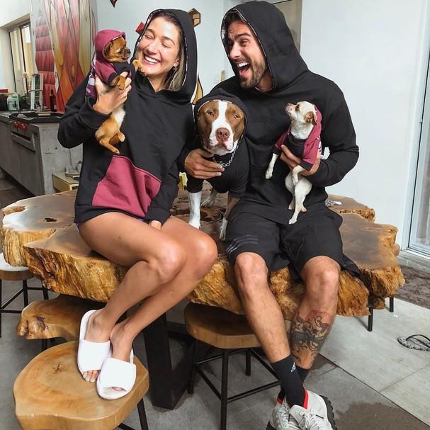 Gabriela Pugliesi, Erasmo e os dogs! (Foto: Instagram/Reprodução)