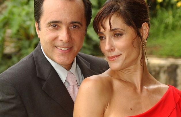 Em 'Mulheres apaixonadas', Christiane Torloni fazia par com Tony Ramos, o Téo. A novela foi exibida em 2003 (Foto: TV Globo)