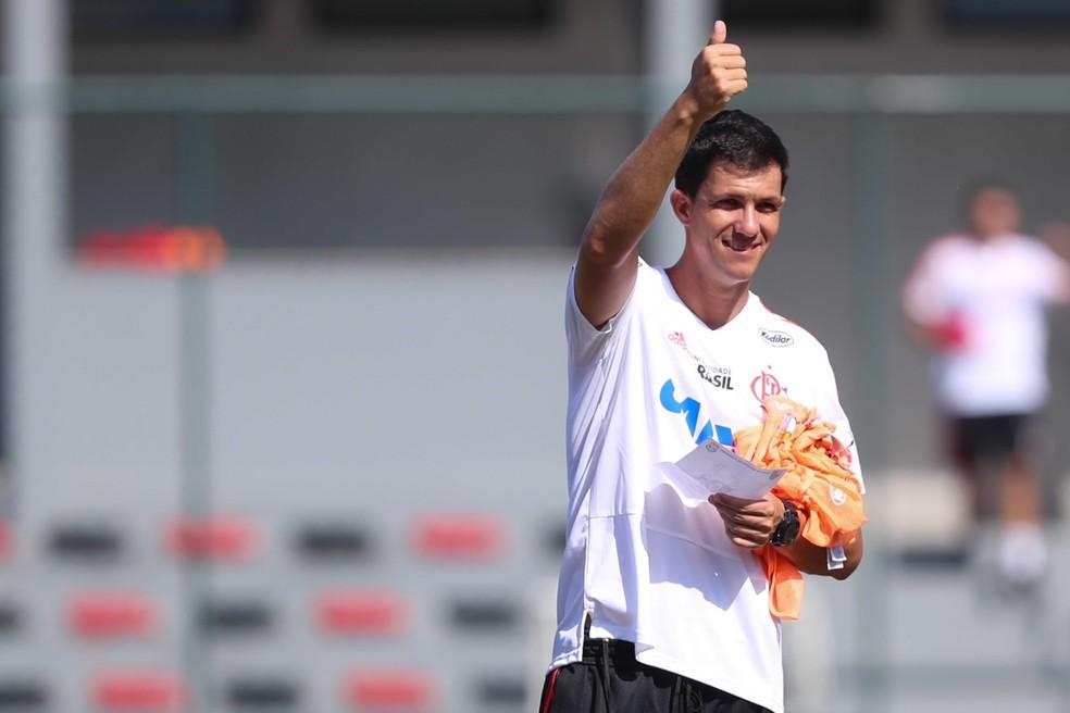 Maurício Barbieri tem a confiança de Ricardo Lomba (Foto: Gilvan de Souza / Flamengo)
