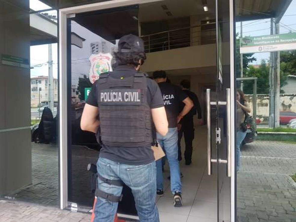 Homem foi preso por participação no Crime em Fortaleza — Foto: Divulgação/SSPDS