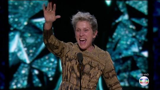 Oscar 2018: Frances McDormand pede e todas as mulheres indicadas se levantam