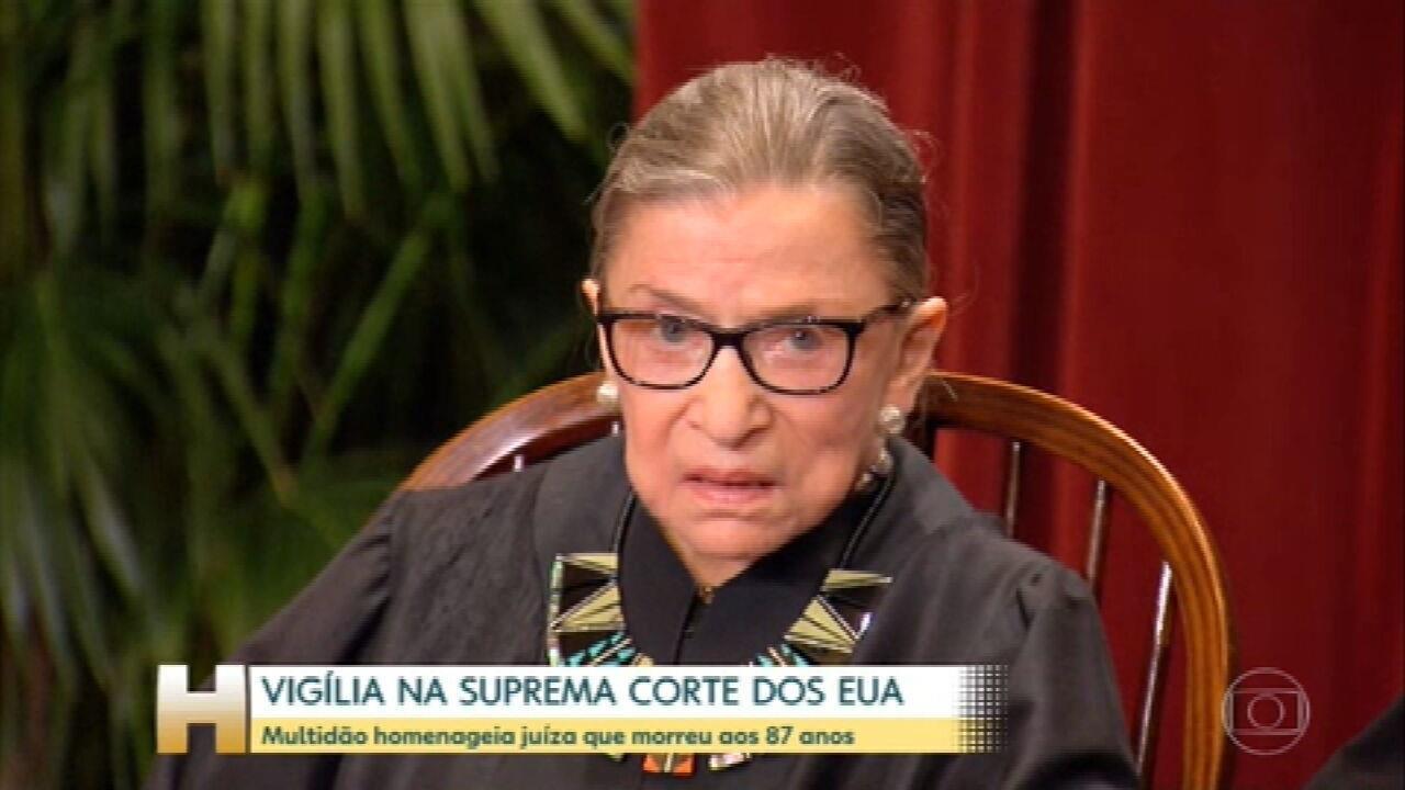 Multidão homenageia juíza americana Ruth Bader Ginsburg, que morreu aos 87 anos