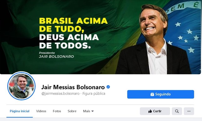 Página do presidente Jair Bolsonaro no Facebook