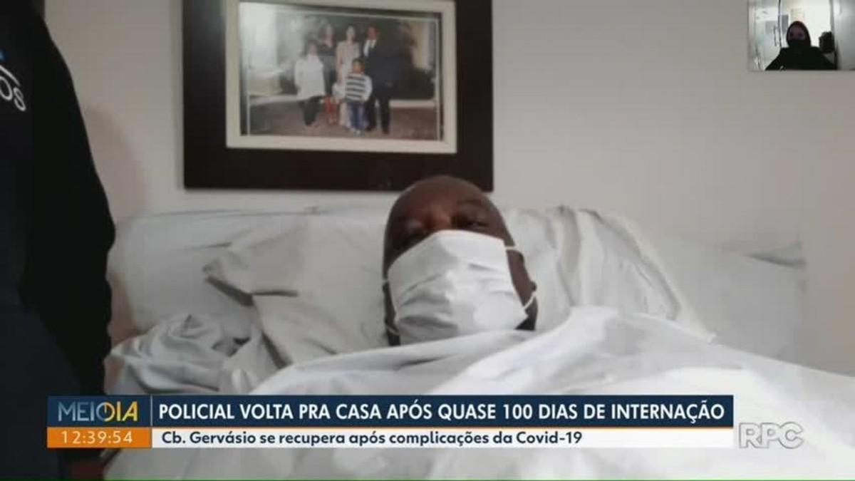 Policial militar recebe alta após ficar mais de 100 dias internado por Covid-19: 'Foram dias terríveis'