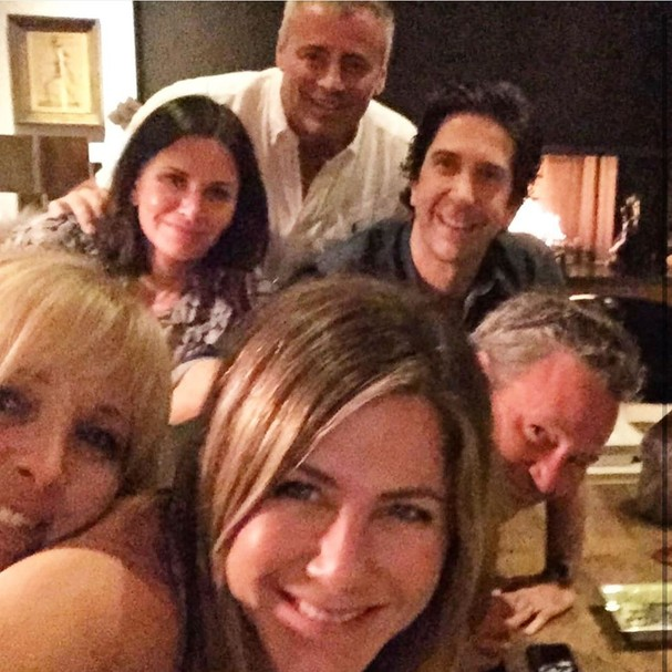 Lisa Kudrow, Courteney Cox, Jennifer Aniston, Matt LeBlanc, David Schwimmer e Matthew Perry (Foto: Instagram/Reprodução)