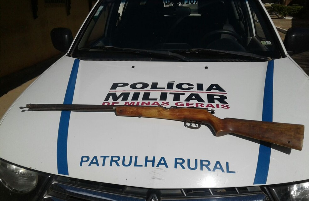 Arma foi apreendida pela Polícia Militar (Foto: Polícia Militar/Divulgação)
