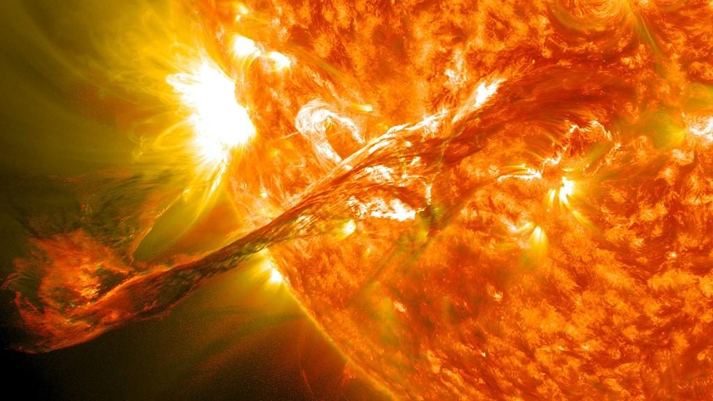 Tempestade solar afeta campo magnético da Terra (Foto: NASA Goddard Space Flight Center/Flickr: Magnificent CME Erupts on the Sun/ Wikipedia Commons)