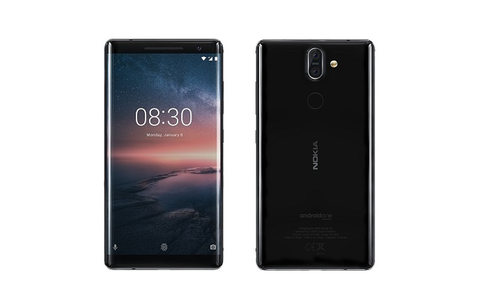Nokia 8 Sirocco traz design com tela curva e câmera dupla (Foto: Divulgação/Nokia)