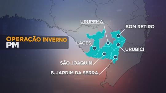 Operação da PM reforça segurança nas cidades turísticas da Serra catarinense durante a temporada do frio