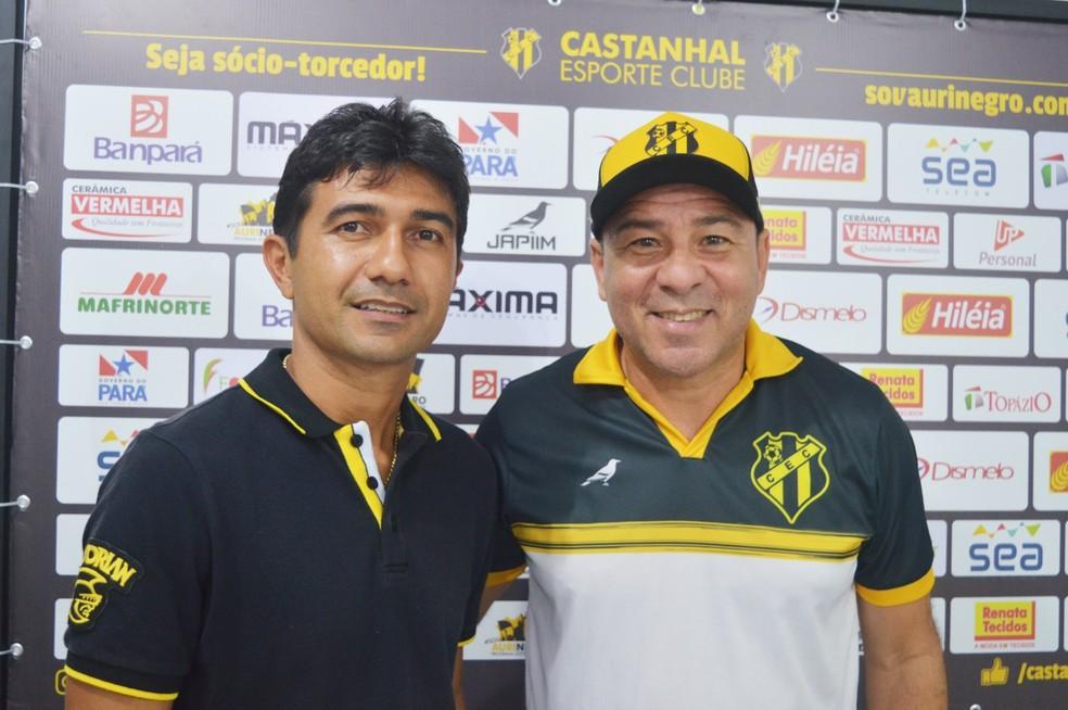 Helinho Júnior e Artur Oliveira elaboraram, junto a comissão médica, o protocolo de treinamentos — Foto: Jivago Lemos/Ascom Castanhal