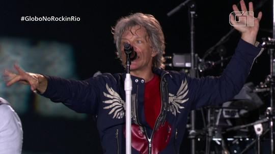 """Bon Jovi toca """"You give love a bad name"""" no Rock in Rio"""