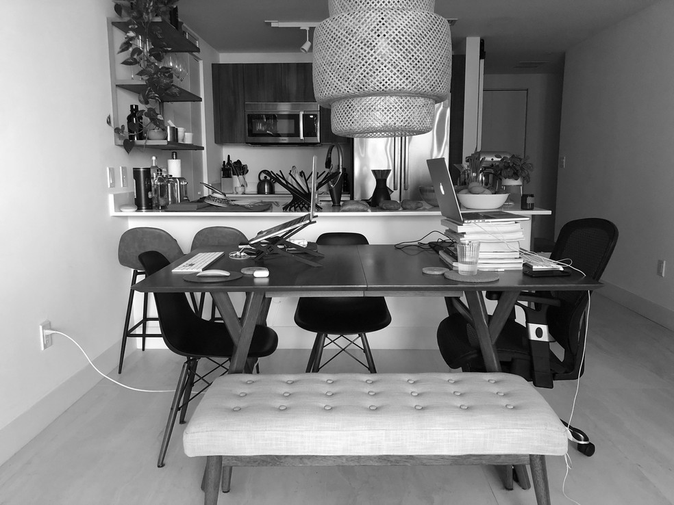 Arquiteta Camila Thiesen criou o instagram Habitar a Quarentena — Foto: Luciana Thiesen/Arquivo Pessoal