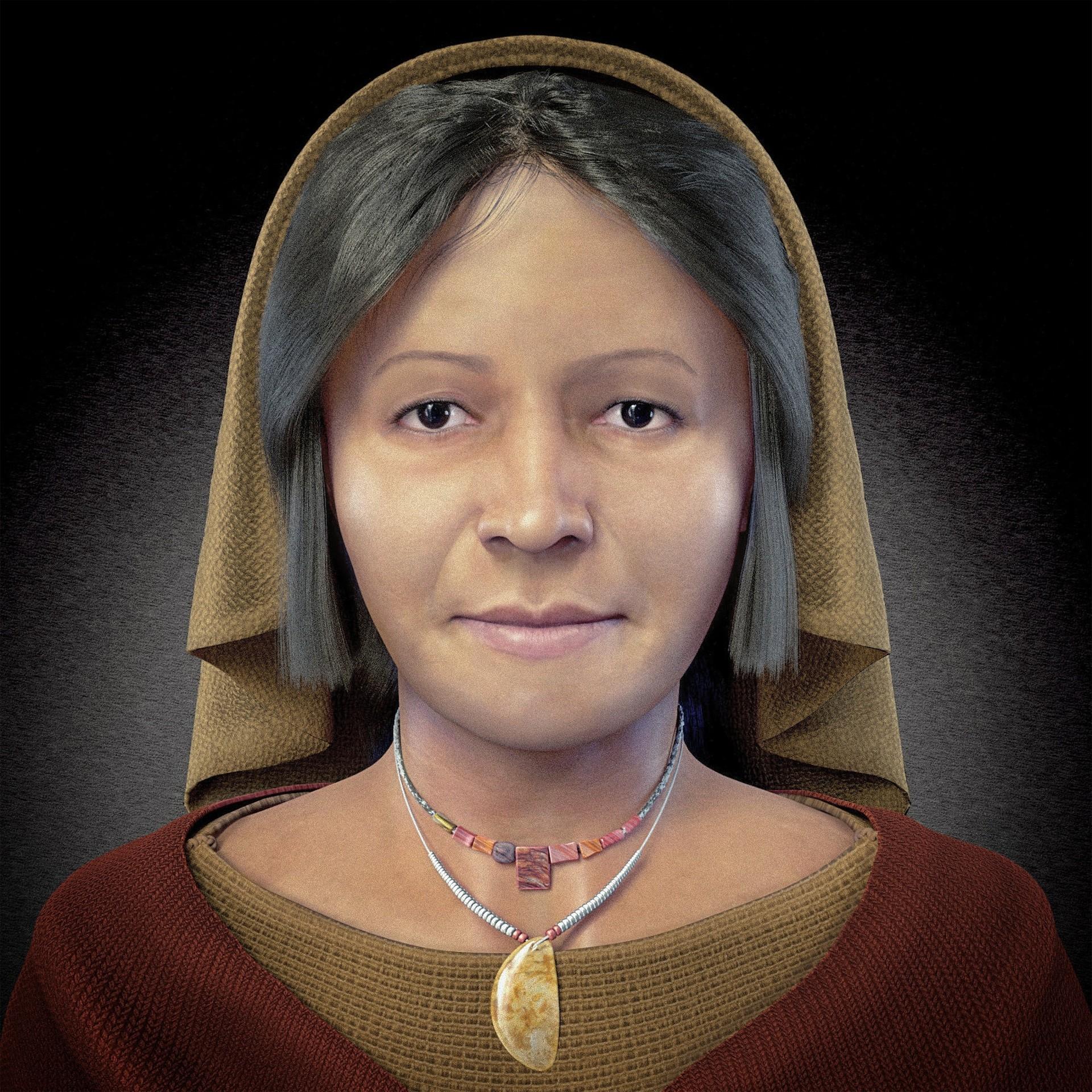 A 'Dama dos Quatro Tupus', que viveu no Peru há 4,5 mil anos (Foto: Reprodução/ Cícero Moraes)