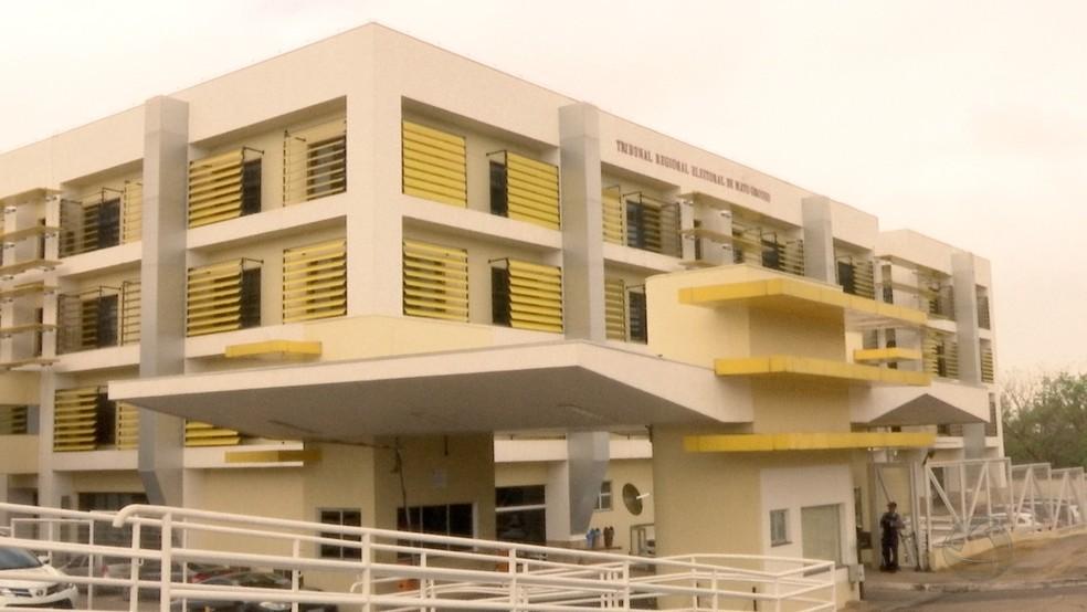 Sede do Tribunal Regional Eleitoral de Mato Grosso (TRE-MT), em Cuiabá — Foto: Reprodução/TVCA
