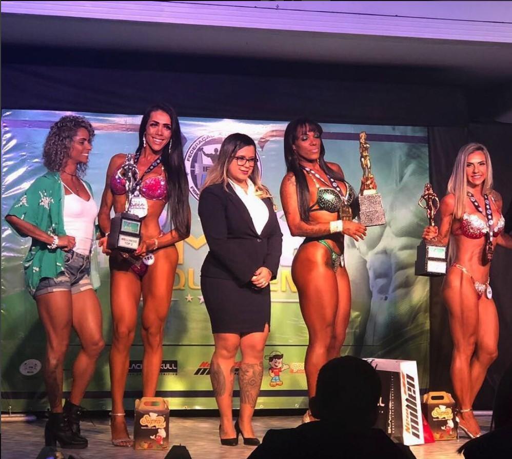 Priscila Reis primeira mulher trans vice campeã de fisiculturismo da história (Foto: Divulgação)