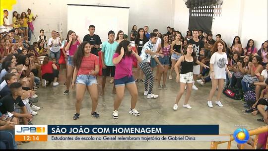 Escola pública em João Pessoa faz São João e presta homenagem a Gabriel Diniz