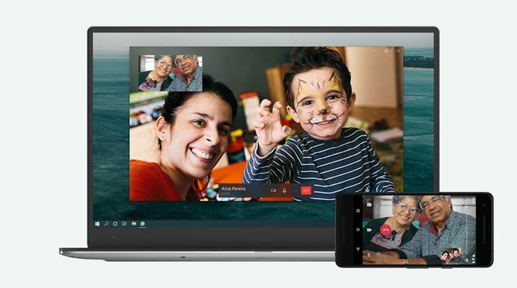 Aplicativo do WhatsApp para Windows e Mac agora faz ligações. — Foto: Divulgação/WhatsApp
