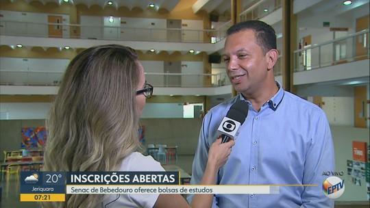 Senac de Bebedouro oferece bolsas de estudo para 50 vagas em cursos de capacitação