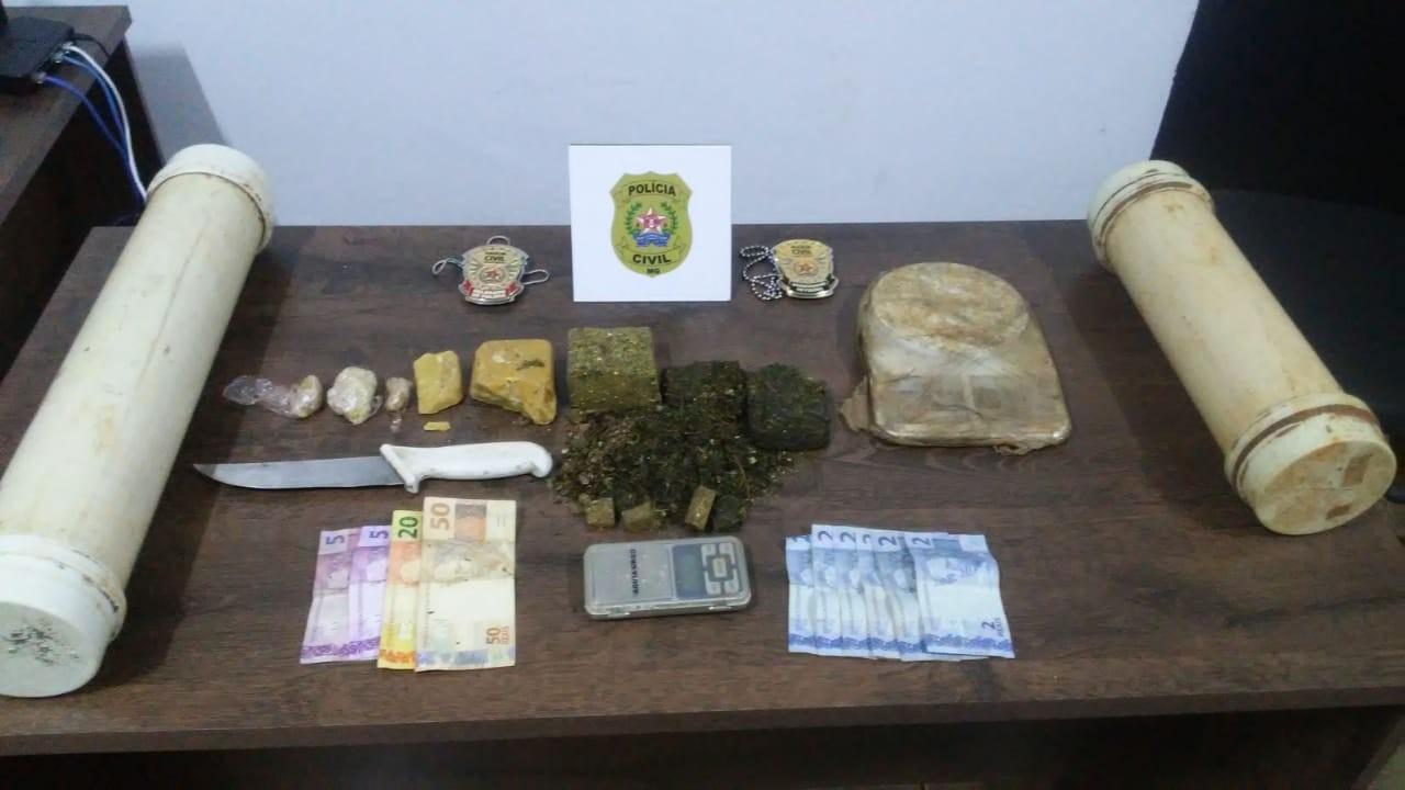Dupla é detida com mais de 2kg de crack e maconha em Araxá