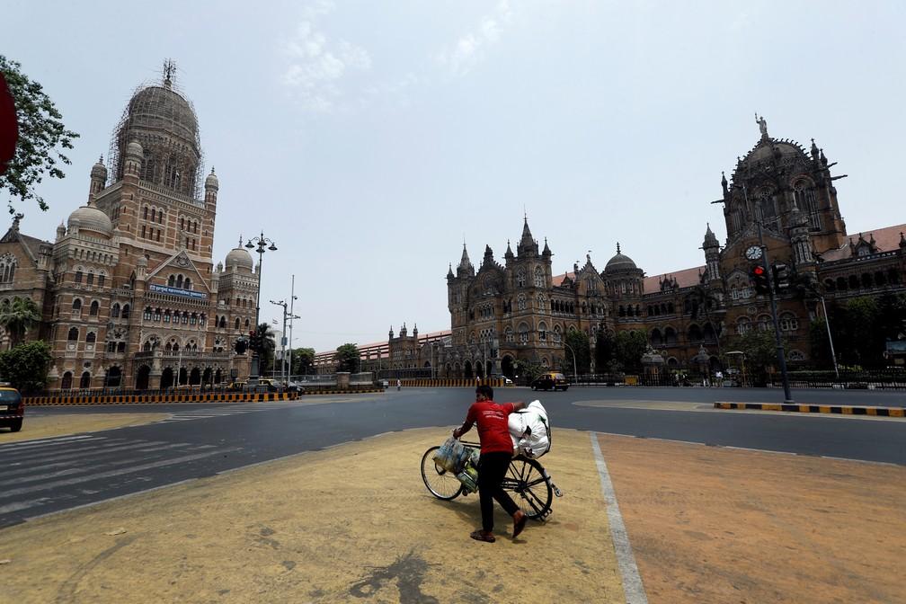 Cidade de Mumbai está em lockdown por conta da pandemia do coronavírus — Foto: Francis Mascarenhas/Reuters