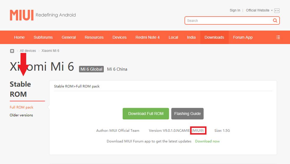 Verifique se a MIUI 9 está disponível para o seu celular (Foto: Reprodução/Thiago Rocha)
