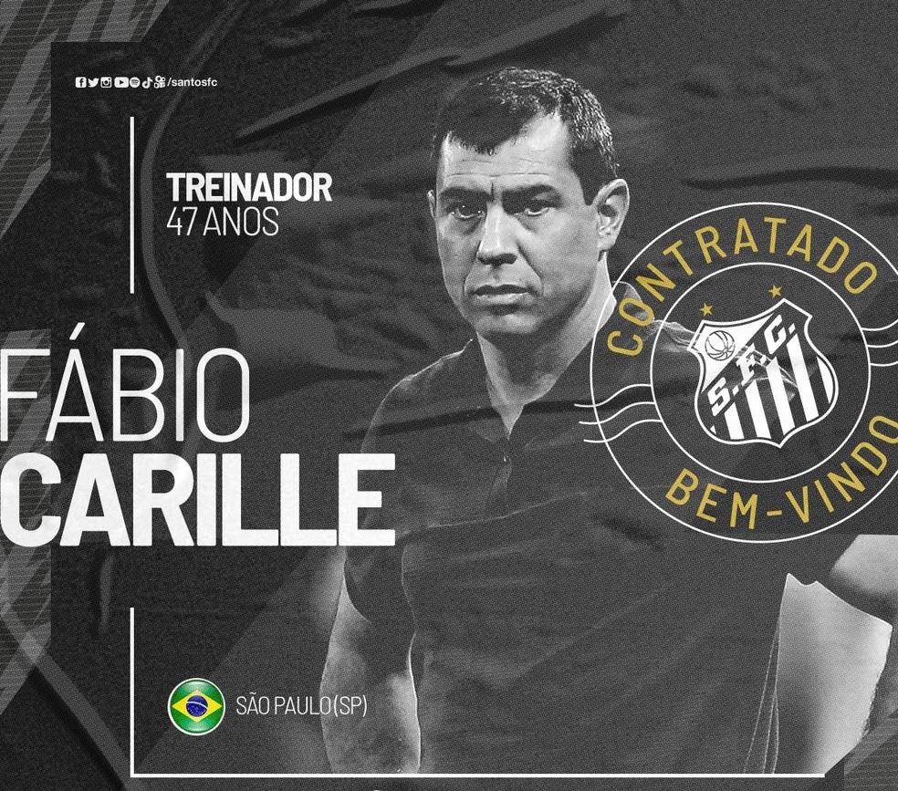 Santos anuncia Fábio Carille — Foto: Reprodução/Twitter