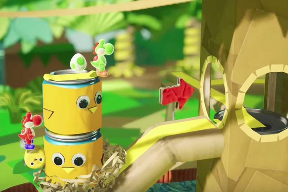 Yoshi's Crafted World lembra um jogo feito de lã — Foto: Divulgação/Nintendo