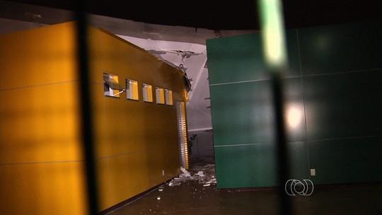 Chuva derruba estrutura em parque e provoca queda de árvores em Goiás