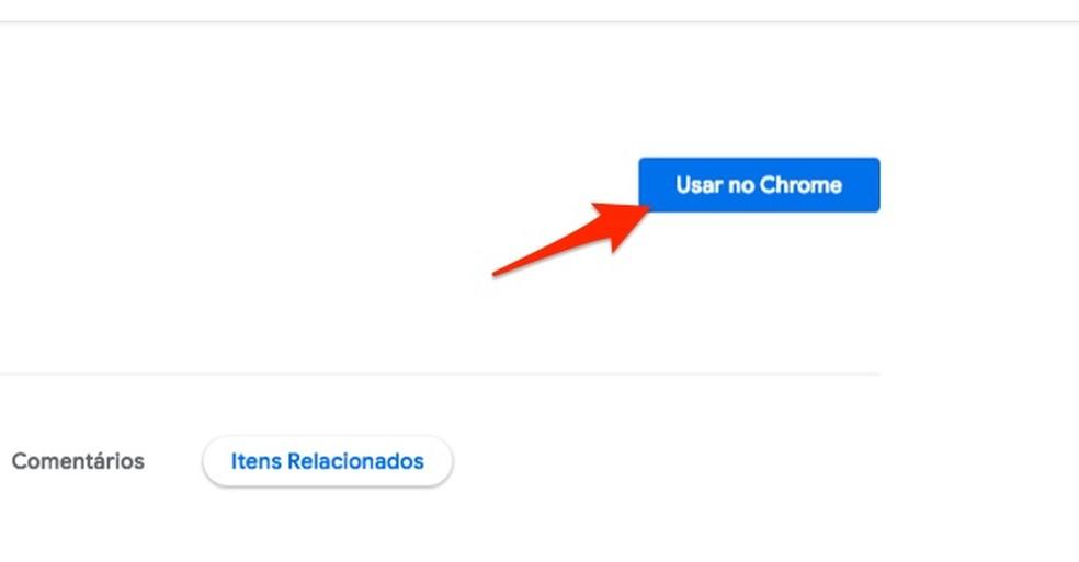 Ação para preparar o download da extensão Mais Barato PROTESTE para Chrome — Foto: Reprodução/Marvin Costa