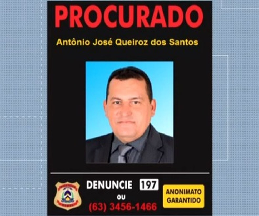 Vereador Antônio José Queiroz dos Santos segue foragido — Foto: Reprodução