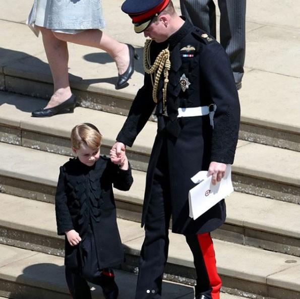 Príncipe George no casamento do tio Harry (Foto: Reprodução / Instagram)