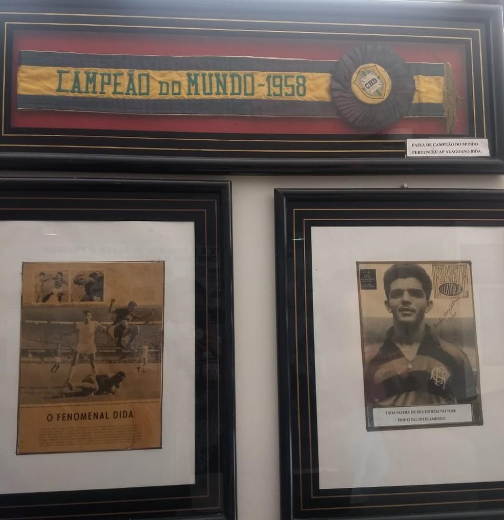 Dida tem sua história guardada no Museu dos Esportes, em Alagoas — Foto: Emanuelle Borba/GloboEsporte.com