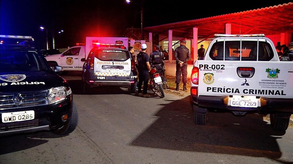 crime aconteceu na comunidade Sítio Alagadiço Grande, onde morava Belchior Alves de Andrade — Foto: Inter TV Cabugi/Reprodução