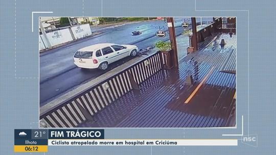 Morre ciclista atropelado por motorista que fugiu sem prestar socorro no Sul de SC