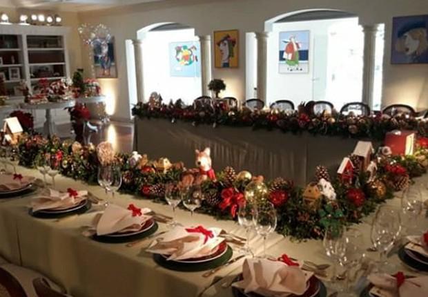 Mesa de Natal da família de Silvio Santos (Foto: Reprodução/Instagram)