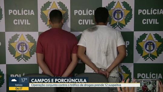 Operação contra o tráfico prende 12 em Campos e Porciúncula